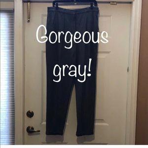 DKNY Gray Wool Trouser